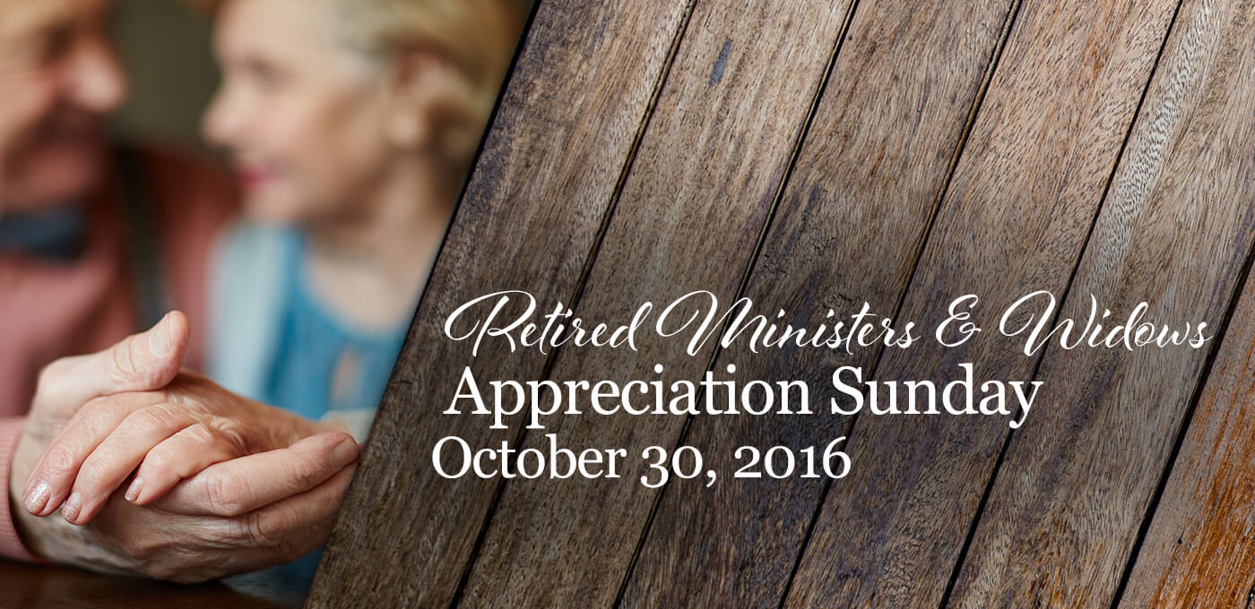 Retired Ministers and Widows 2016