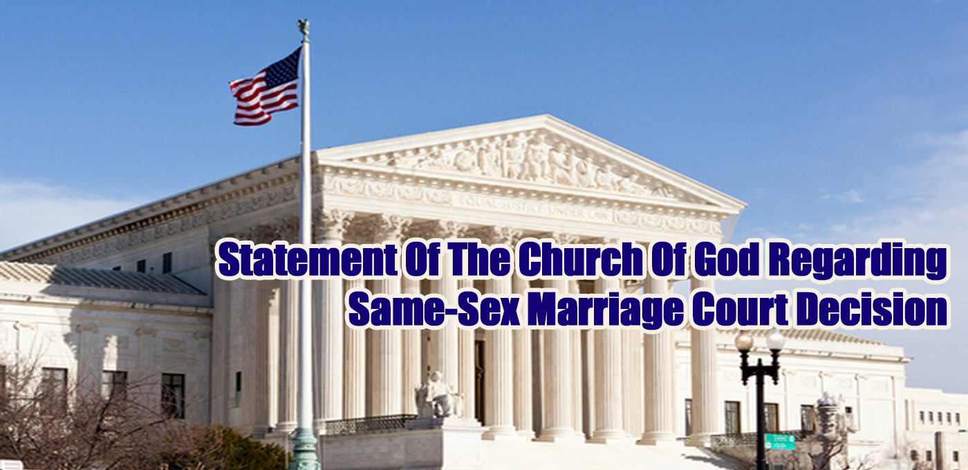 Same Sex Marriage Statement